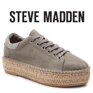 Steve Madden Edmund Grey Espadrille Sneakers